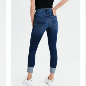 American Eagle High Rise Jegging Crop Jeans Skinny